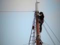 Hoch im Masten der Thor Heyerdahl