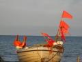 Boot mit Stederfahnen